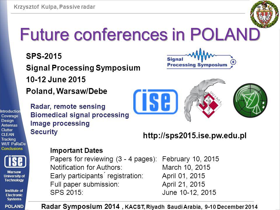 Future conferences in POLAND