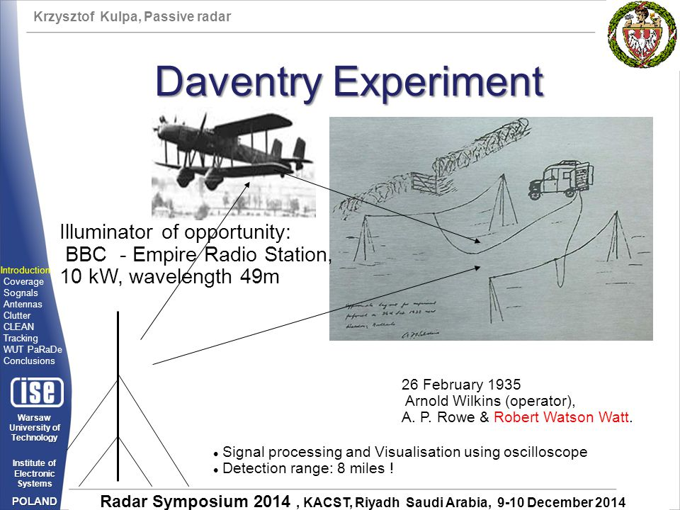 Daventry Experiment Illuminator of opportunity: