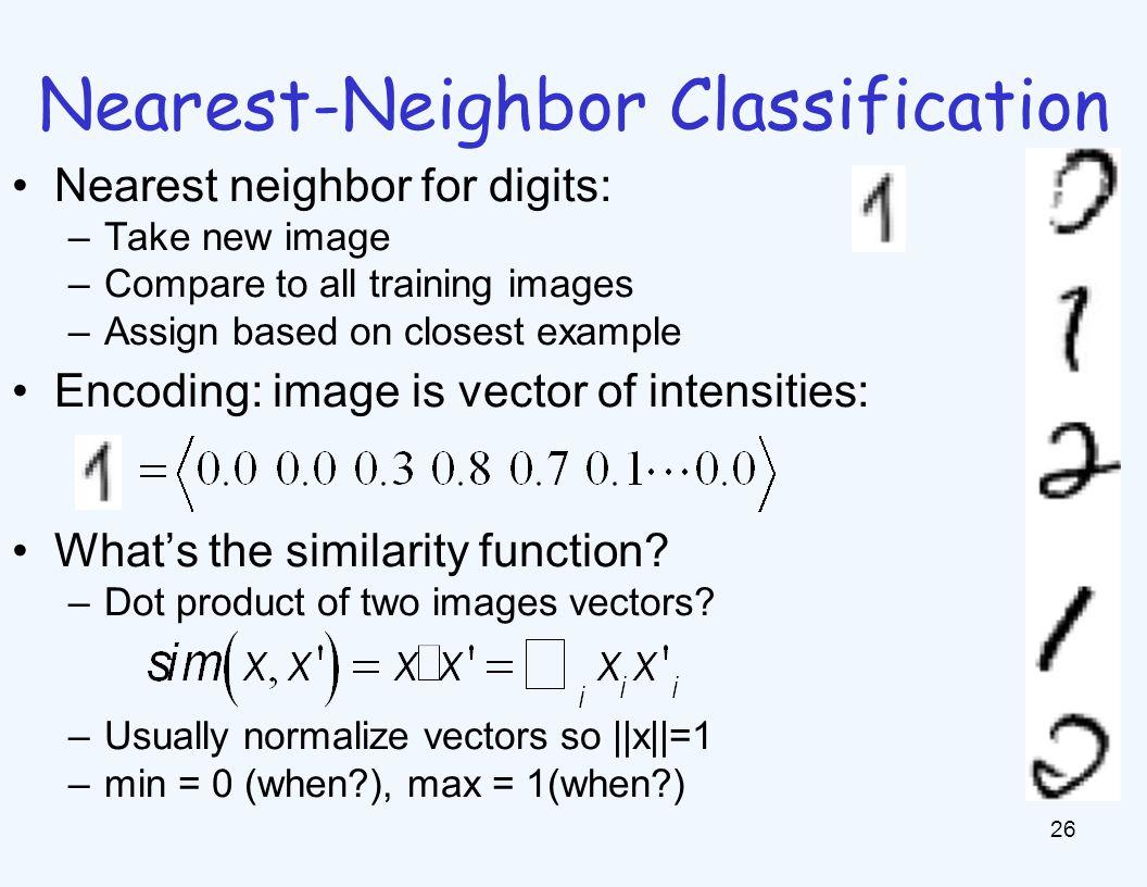 Basic Similarity Many similarities based on feature dot products: