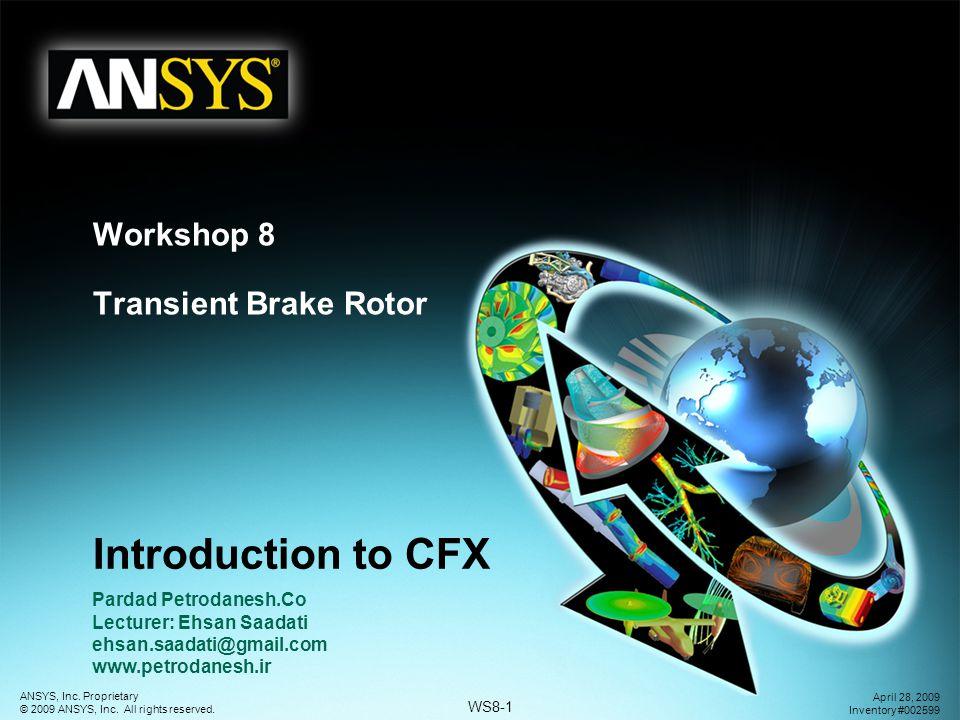 Workshop 8 Transient Brake Rotor