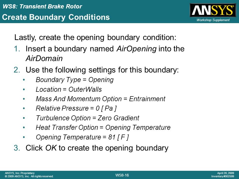 Create Boundary Conditions