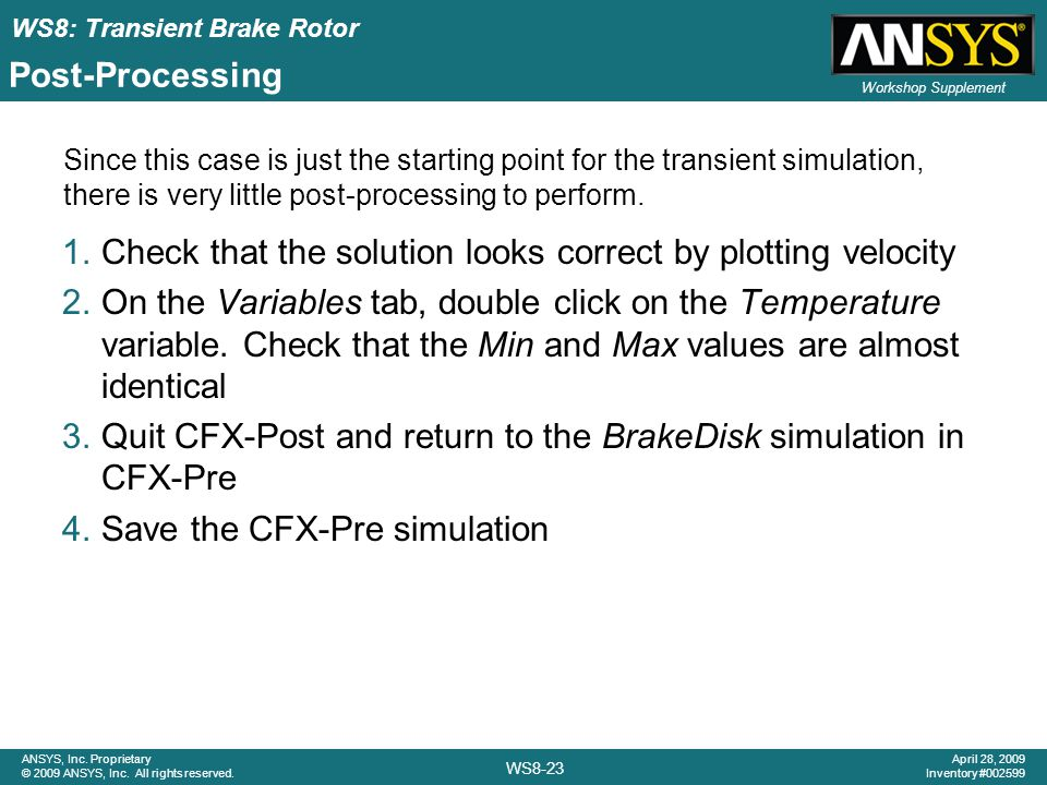 Check that the solution looks correct by plotting velocity