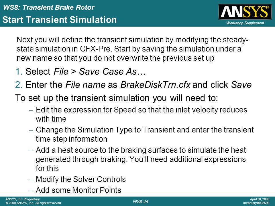 Start Transient Simulation