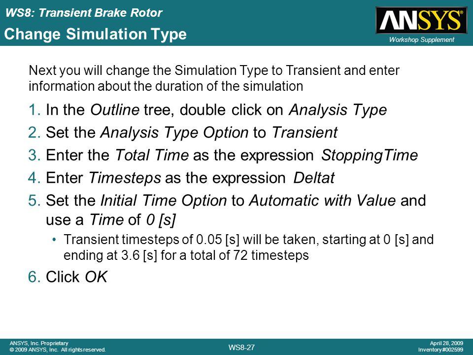 Change Simulation Type