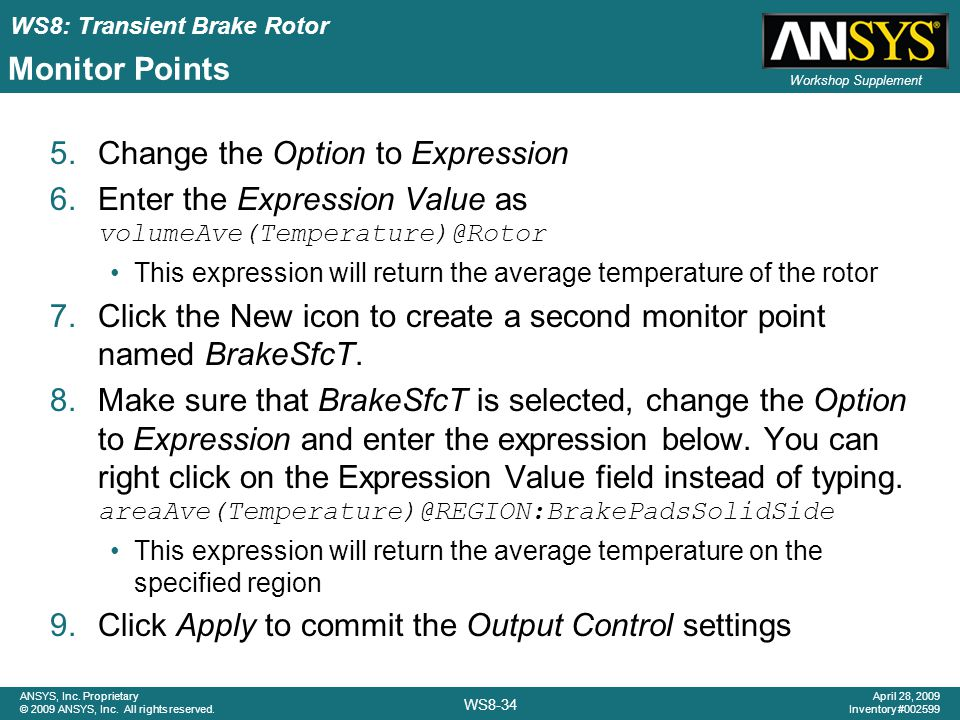 Change the Option to Expression