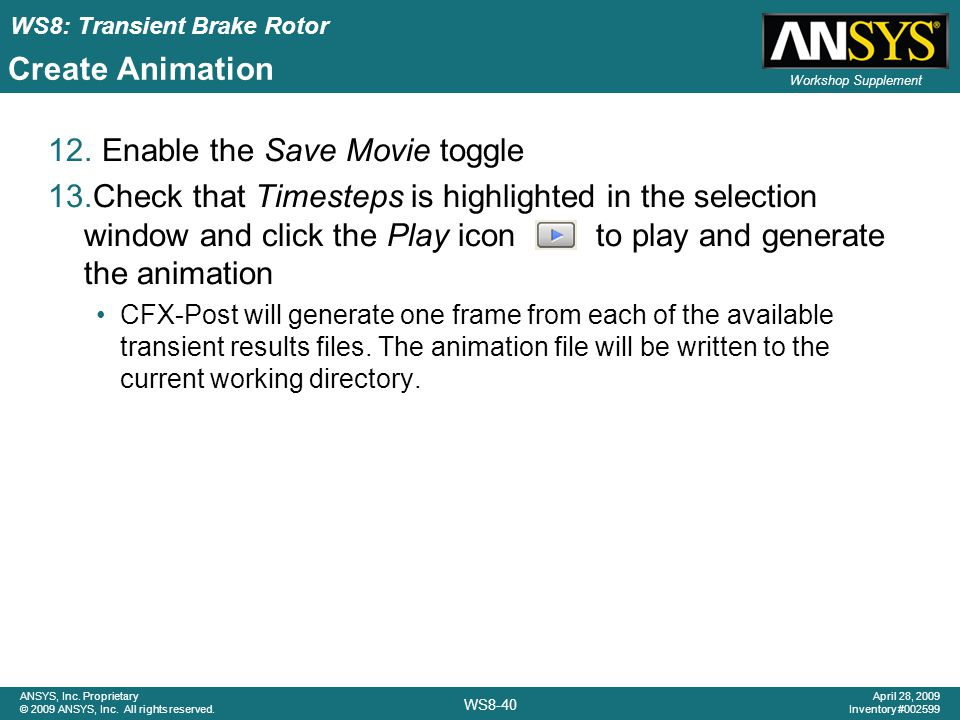 Enable the Save Movie toggle