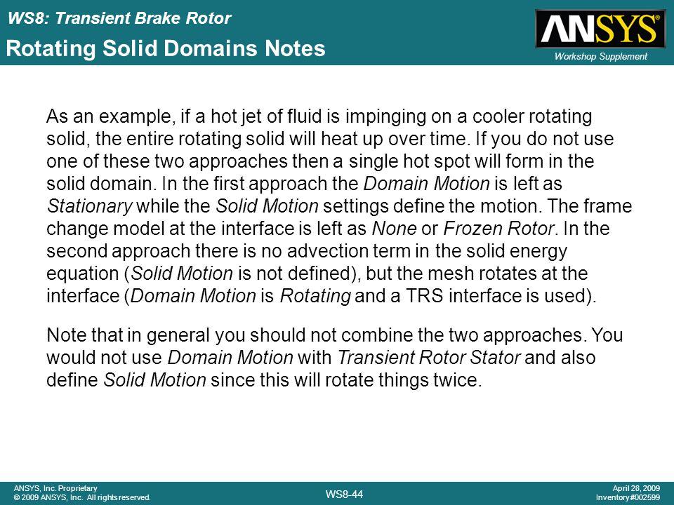 Rotating Solid Domains Notes