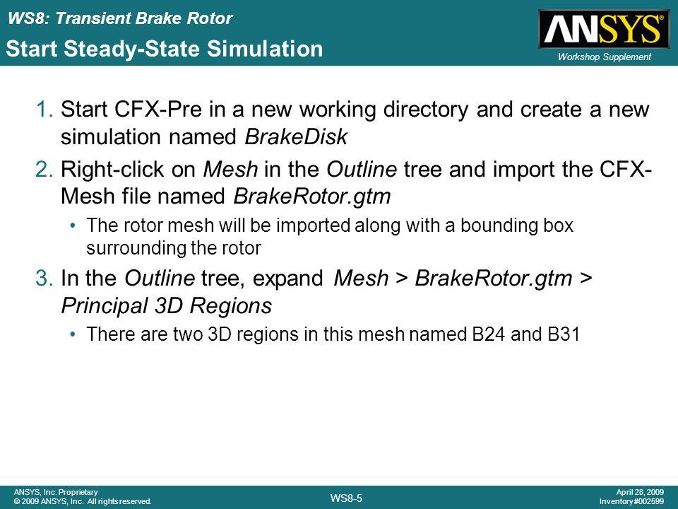 Start Steady-State Simulation
