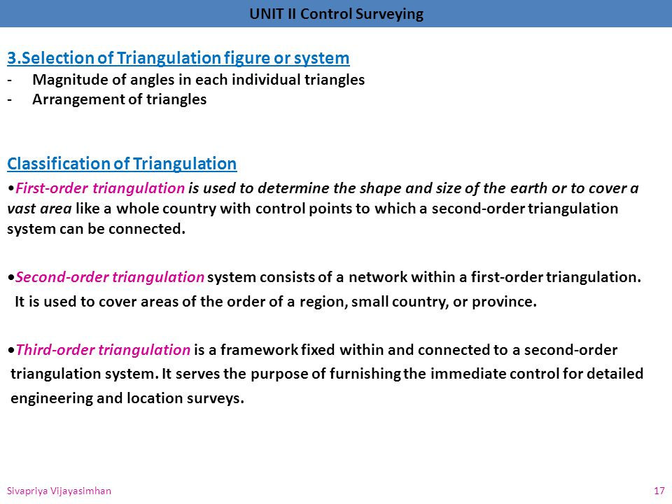 3.Selection of Triangulation figure or system