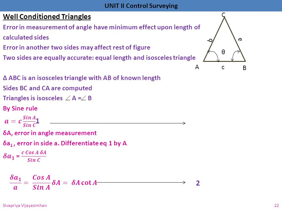 Well Conditioned Triangles