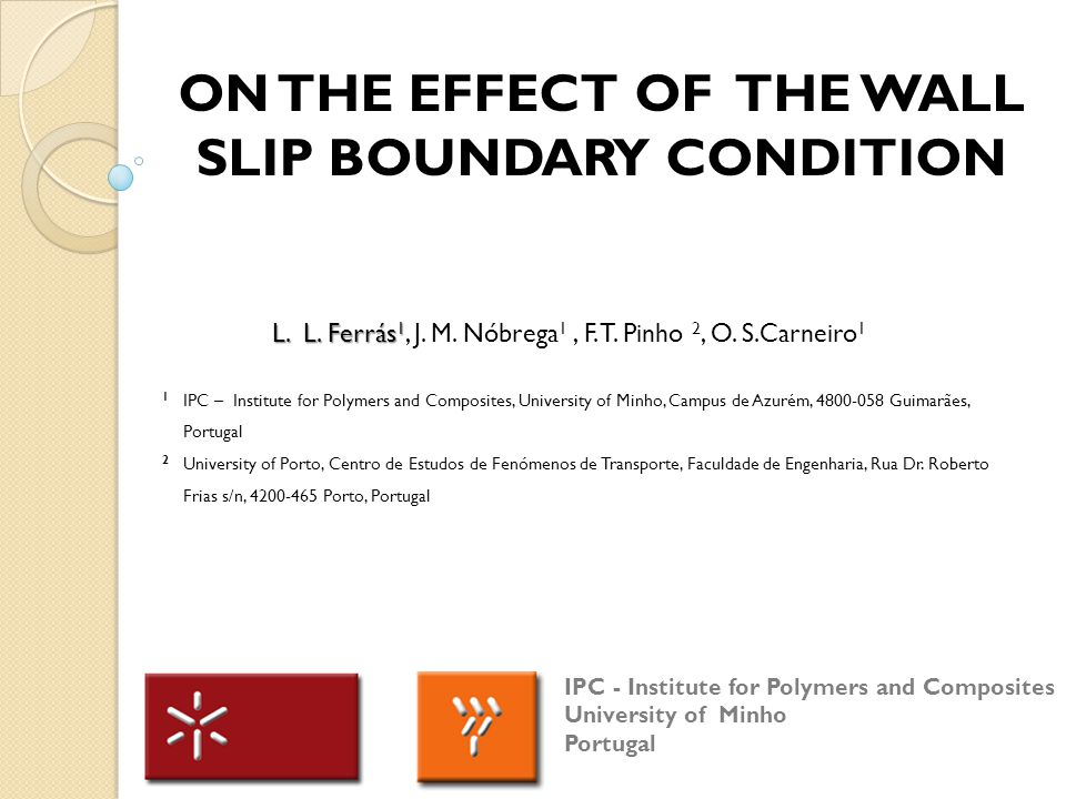 On The Effect of THE Wall Slip BOUNDARY Condition