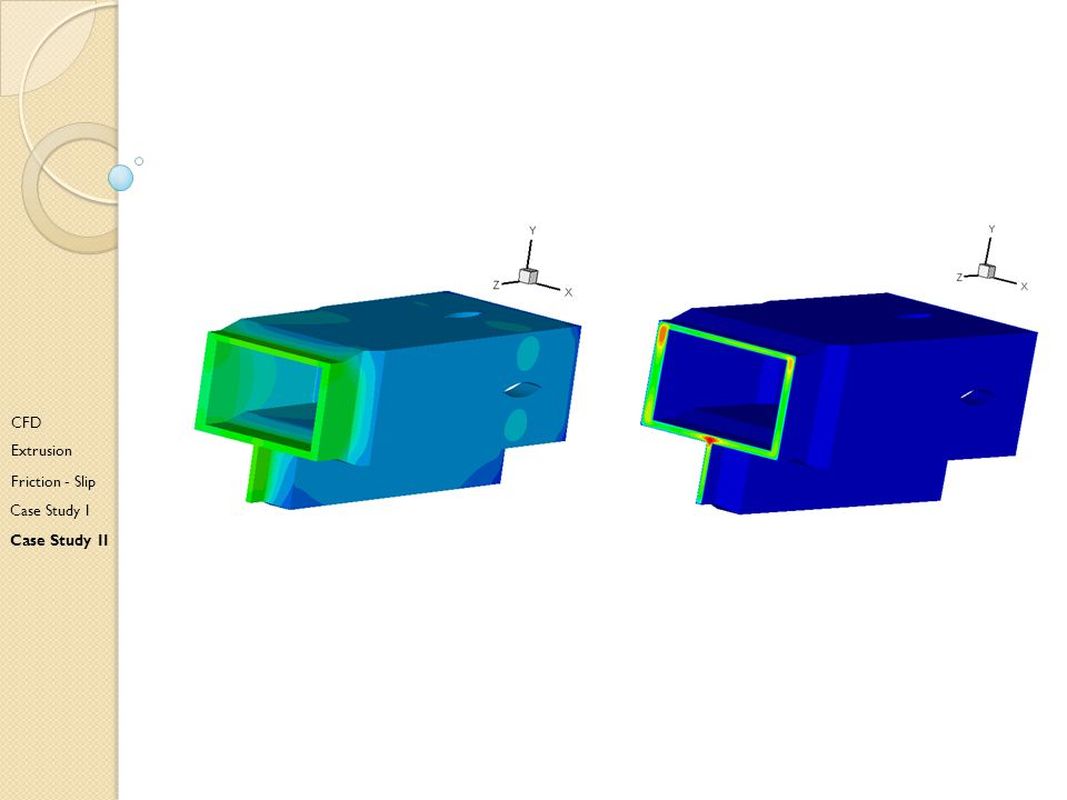CFD Extrusion Friction - Slip Case Study I Case Study II