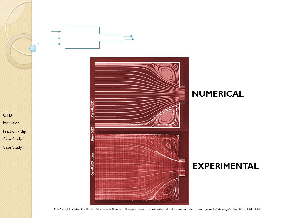 numerical Experimental CFD Extrusion Friction - Slip Case Study I