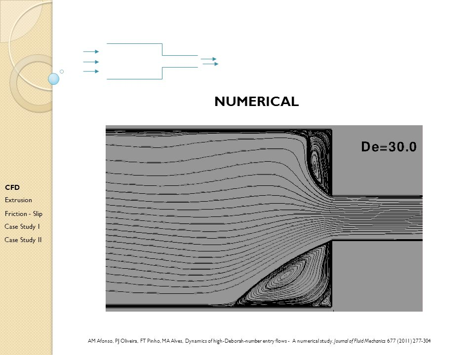 numerical CFD Extrusion Friction - Slip Case Study I Case Study II