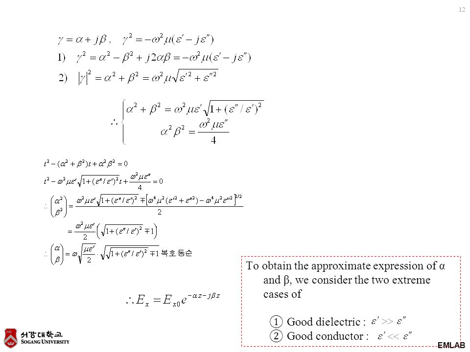 To obtain the approximate expression of α and β, we consider the two extreme cases of
