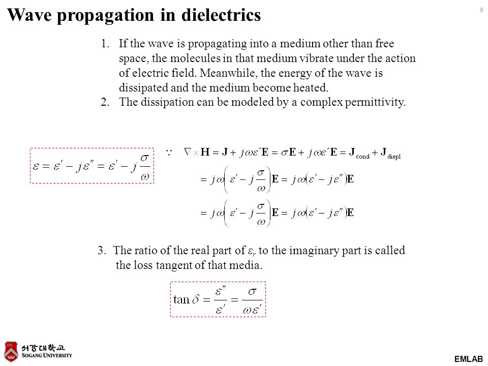 Wave propagation in dielectrics