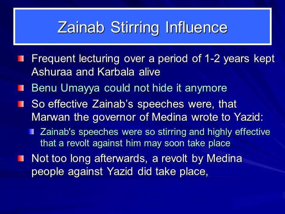 Zainab Stirring Influence