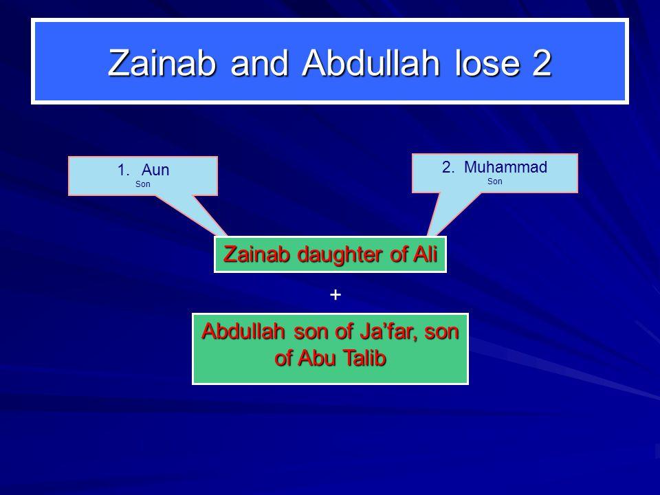 Zainab and Abdullah lose 2