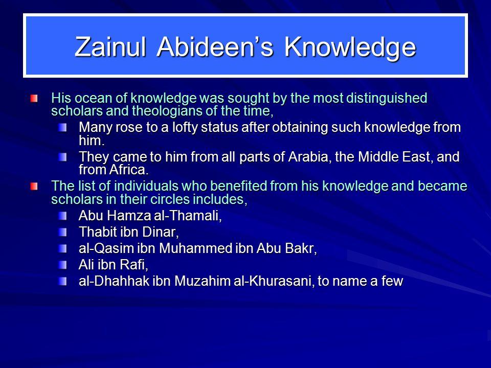 Zainul Abideen's Knowledge