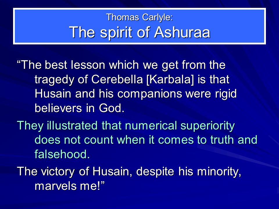 Thomas Carlyle: The spirit of Ashuraa