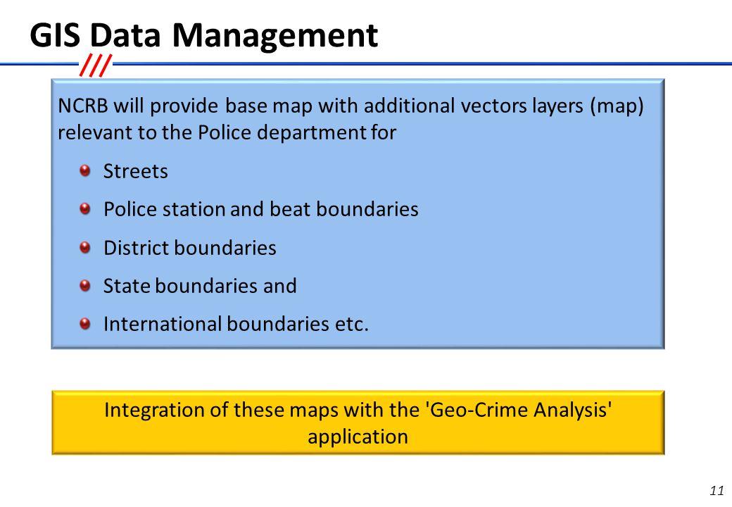 Geo-Crime Analysis - Basic GIS functionalities required