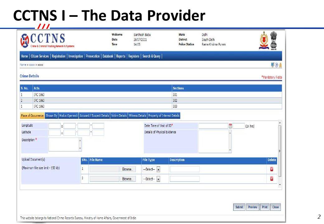Emergency Response System- The Data provider