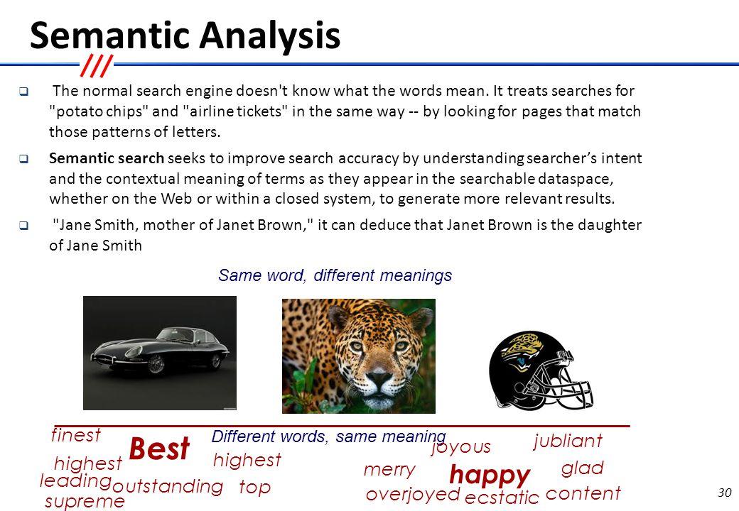 Semantic Analysis…..contd