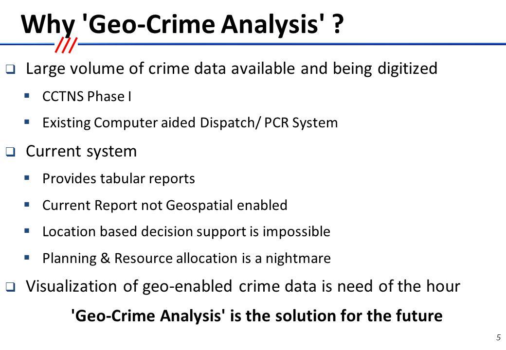 Building blocks of Geo-Crime Analysis