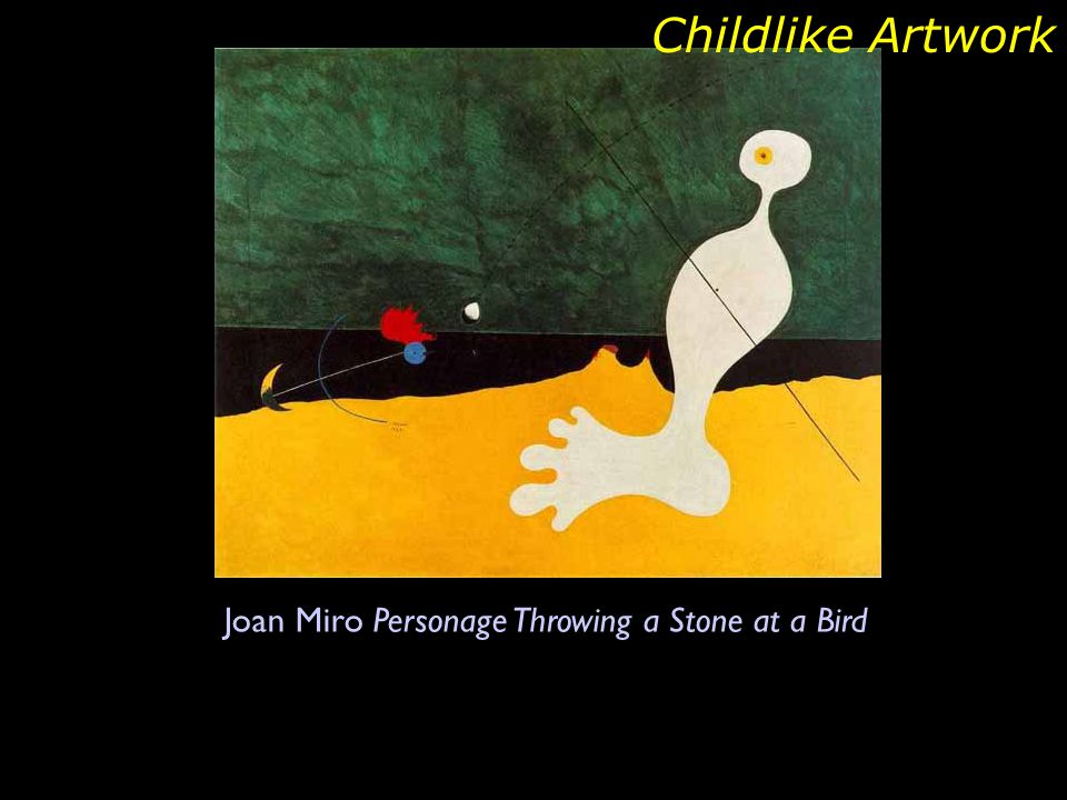 Joan Miro Personage Throwing a Stone at a Bird