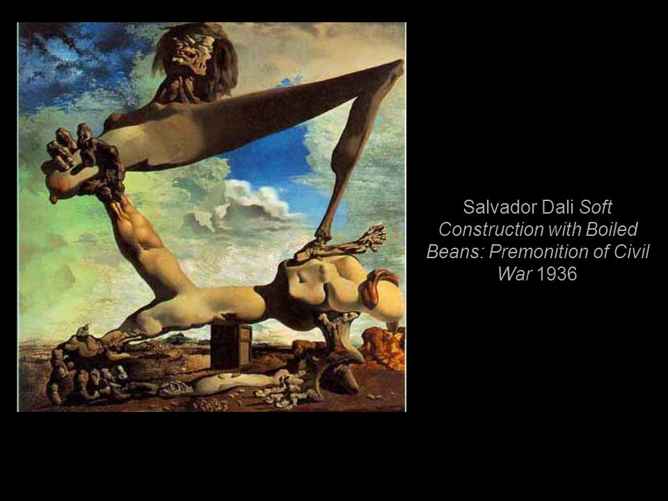 Salvador Dali Soft Construction with Boiled Beans: Premonition of Civil War 1936