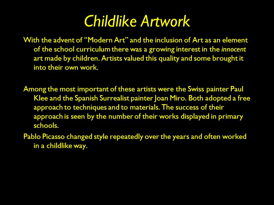 Childlike Artwork