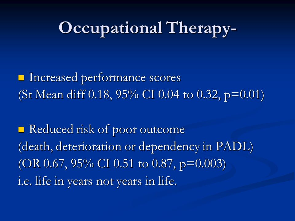 Occupational Therapy-