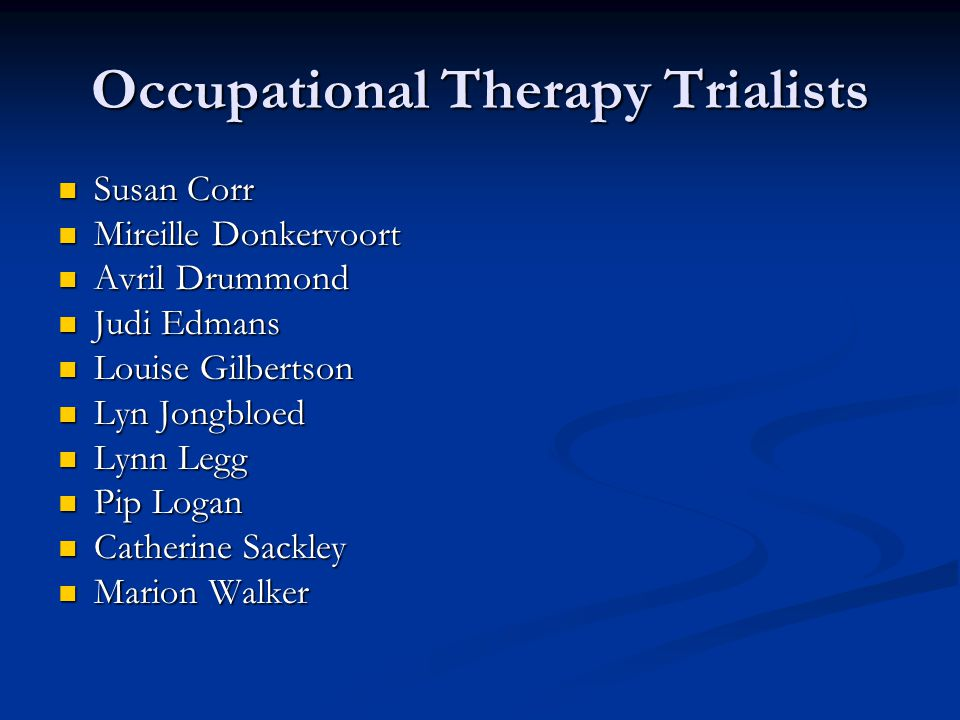 Occupational Therapy Trialists