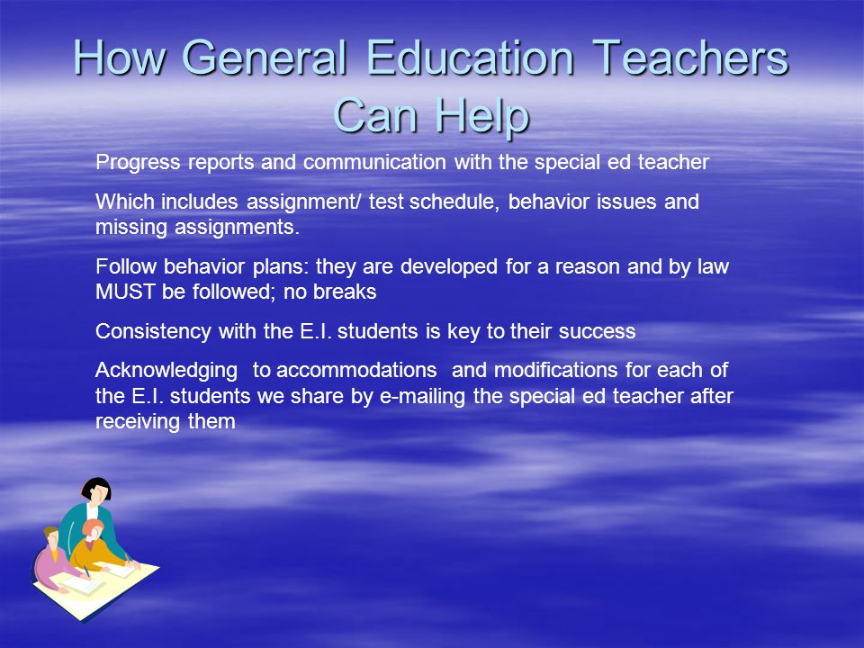 How General Education Teachers Can Help