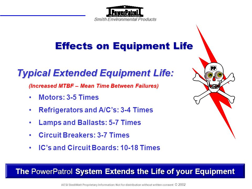 Effects on Equipment Life