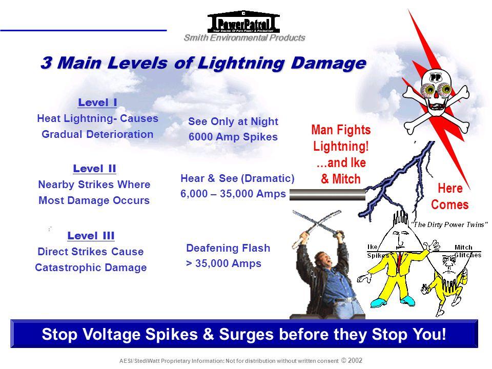 3 Main Levels of Lightning Damage