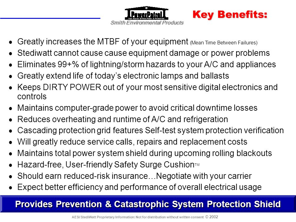 Provides Prevention & Catastrophic System Protection Shield