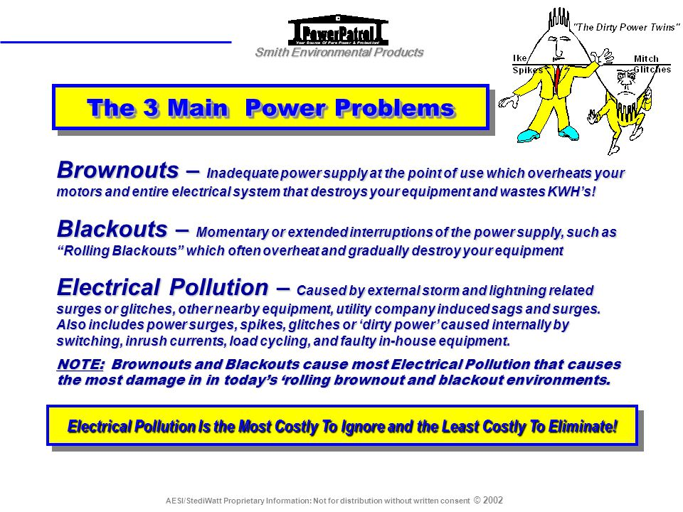 The 3 Main Power Problems