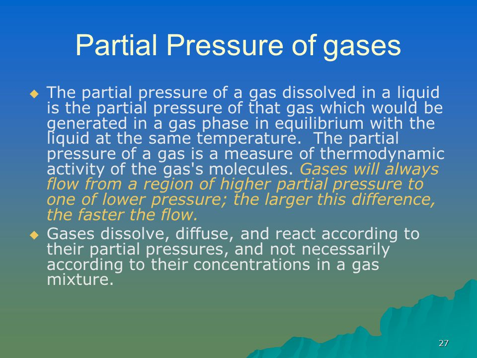 Partial Pressure of gases