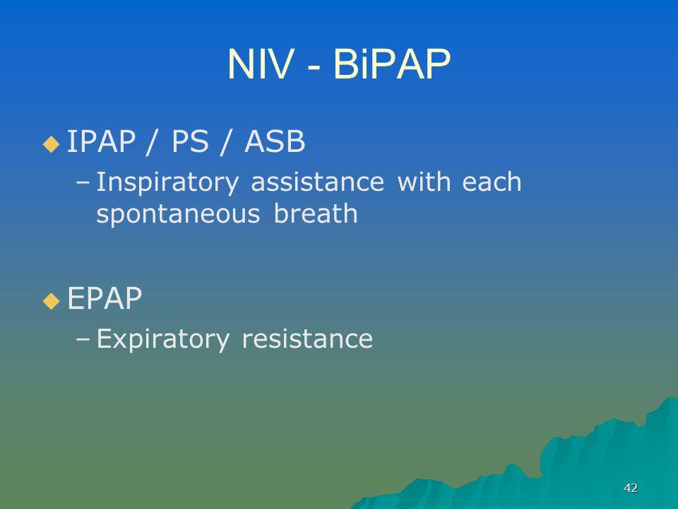 NIV - BiPAP IPAP / PS / ASB EPAP