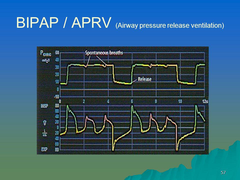 BIPAP / APRV (Airway pressure release ventilation)