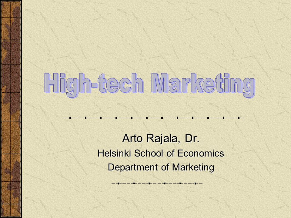High-tech Marketing - HUT