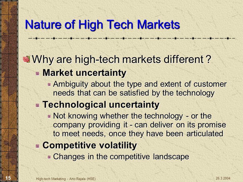 Nature of High Tech Markets