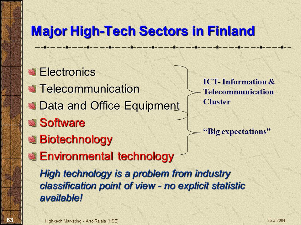 Major High-Tech Sectors in Finland