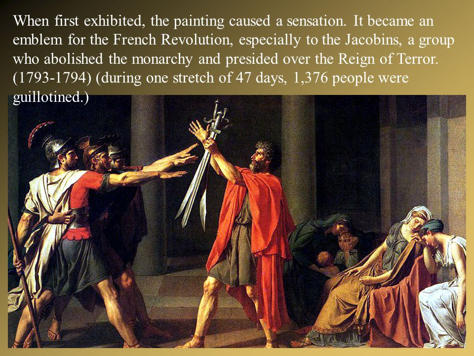 When first exhibited, the painting caused a sensation
