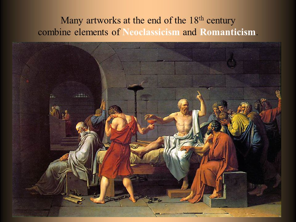 Many artworks at the end of the 18th century