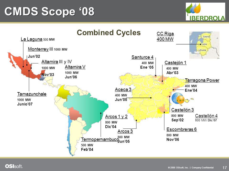 CMDS Scope '08 Combined Cycles CC Riga 400 MW La Laguna 500 MW