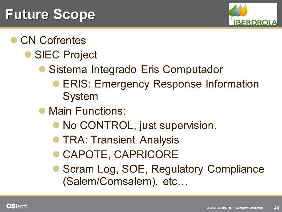 Future Scope CN Cofrentes SIEC Project