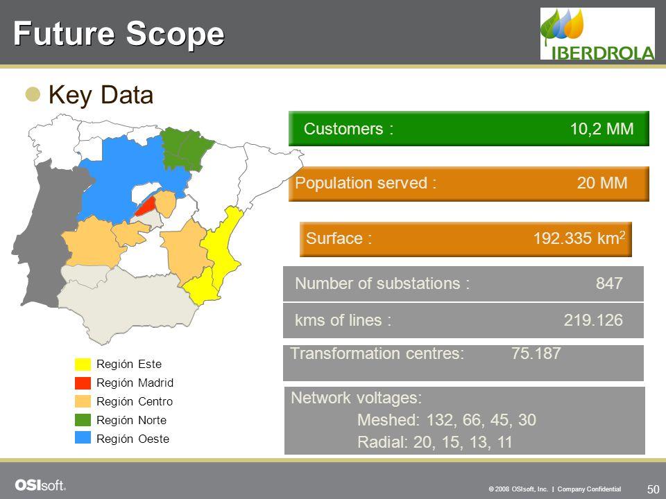 Future Scope Key Data Customers : 10,2 MM Population served : 20 MM