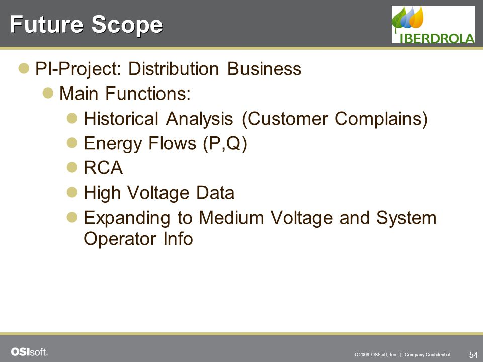Future Scope PI-Project: Distribution Business Main Functions: